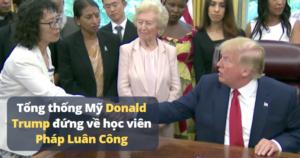 tổng thống trump và Pháp Luân Công